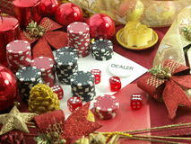 Christmas casino background Royalty Free Stock Photography