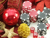 Christmas casino background Royalty Free Stock Photography