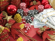 Christmas casino background Stock Photography