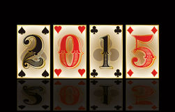 Christmas casino card, vector Royalty Free Stock Images
