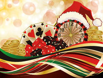 Christmas casino greeting background Royalty Free Stock Images