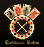 Christmas casino. Happy New year 2015 Royalty Free Stock Photo