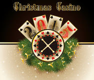 Christmas casino. Happy 2015 year background Royalty Free Stock Photography