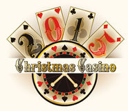 Christmas casino invitation card Stock Images