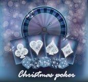 Christmas casino invitation snow card Stock Photos