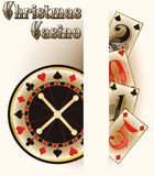 Christmas casino poker cards Stock Image