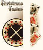 Christmas casino poker cards Stock Image