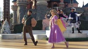 Christmas Castle show Disneyland Paris 2015 stock photography