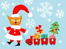 Christmas cat Stock Image