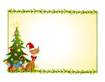 Christmas Cat Background Stock Photo