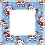 Christmas cat border Royalty Free Stock Photos