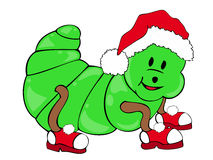 Christmas Caterpillar. Royalty Free Stock Photo