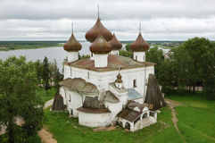Christmas cathedral in Kargopol, North Russia Royalty Free Stock Photos