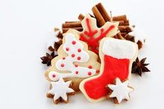 Christmas ccookies. Christmas cookies with cinnamon sticks Royalty Free Stock Image