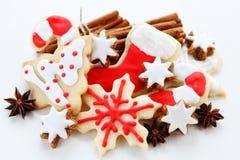 Christmas ccookies. Christmas cookies with cinnamon sticks Stock Photo