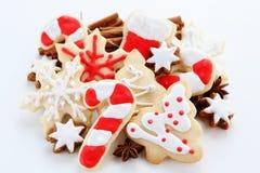 Christmas ccookies. Christmas cookies with cinnamon sticks Stock Image
