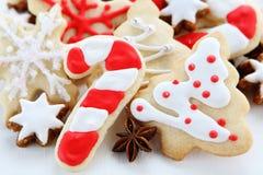 Christmas ccookies. Christmas cookies with cinnamon sticks Stock Photos