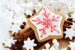 Christmas ccookies. Christmas cookies with cinnamon sticks Royalty Free Stock Photo