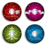Christmas cd design set Royalty Free Stock Photography