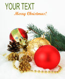 Christmas Celebration. Congratulation with Christmas on a light background Stock Photography