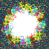 Christmas celebration border Stock Image