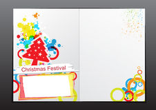 Christmas celebration brochure design Stock Image