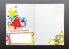 Christmas celebration brochure design. Christmas celebration brochure background design Stock Image