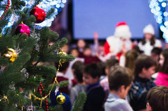 Christmas celebration with children Stock Image