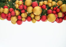 Christmas Celebration Decoration Colorful Balls on Tree Stock Photo