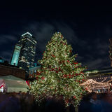 Christmas celebration in downtown Stock Image