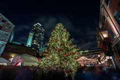 Christmas celebration in downtown Stock Images
