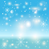 Christmas. Celebration Emergence the Invitation Sexual Snow White the Star Shine Richly the Coupon vector illustration
