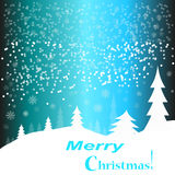 Christmas. Celebration Emergence the Invitation Sexual Snow White the Star Shine Richly the Coupon royalty free stock photos