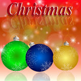 Christmas. Celebration Emergence the Invitation Sexual Snow White the Star Shine Richly the Coupon stock illustration
