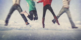 Christmas Celebration Friendship Winter Happiness Concept Royalty Free Stock Photo