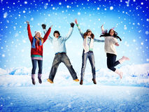 Christmas Celebration Friendship Winter Happiness Concept Royalty Free Stock Photos