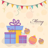 Christmas celebration with gifts. Royalty Free Stock Image