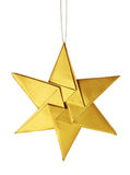 Christmas celebration golden star Royalty Free Stock Photography