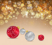 Christmas celebration greeting card or background Stock Photos