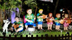 Christmas celebration in Hawaii stock photo