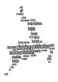 Christmas celebration info-text Royalty Free Stock Photography