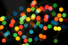 Christmas Celebration Lights Stock Photo