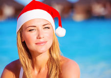 Christmas celebration on Maldives Stock Photography