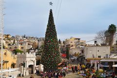 Christmas celebration in Nazareth, Israel Royalty Free Stock Images