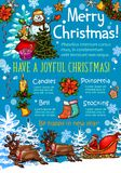 Christmas celebration poster of New Year holidays Stock Photography
