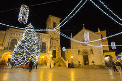 Christmas celebration in the San Benedetto square of Norcia. Stock Photos