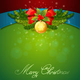 Christmas celebration sparkling postcard Royalty Free Stock Photo