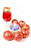 Christmas Celebration Still Life With Glasses Royalty Free Stock Images
