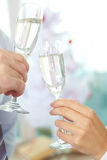 Christmas Celebration Toast stock images