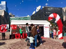 Christmas celebrations at federation square Royalty Free Stock Photography